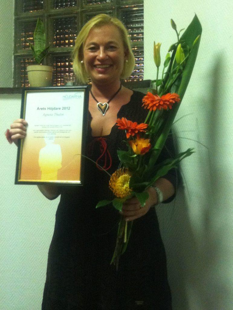 Agneta Thulin, Årets Höjdare 2012