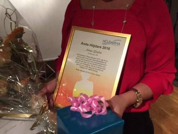 Årets Höjdare 2016, Anna Sjödin. Tavlan!